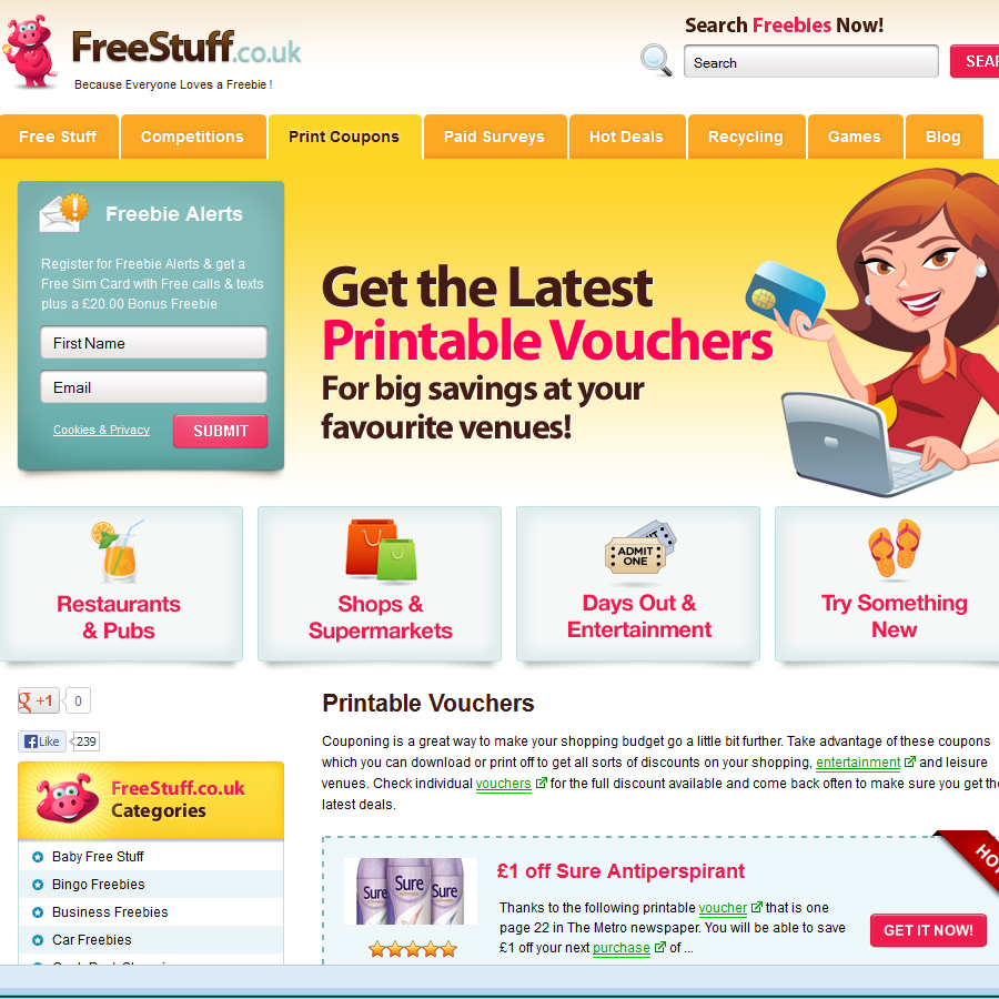 money off coupons to print uk