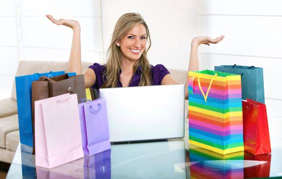 Girl Shooping Bags