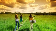 Girls on picnic