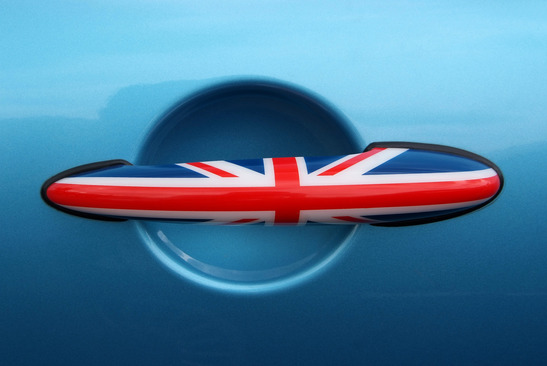 British flag design car door handles