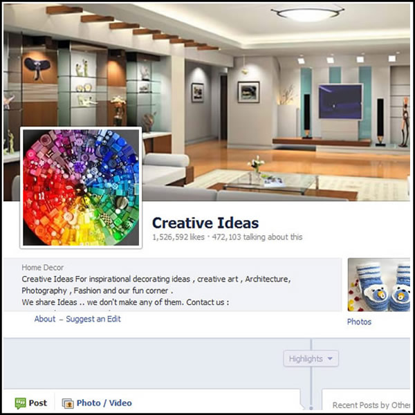 creative ideass facebook page