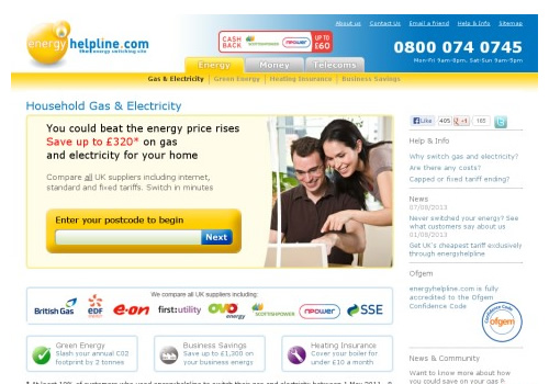 energy helpline website