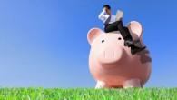 Man on Pink Money Pig