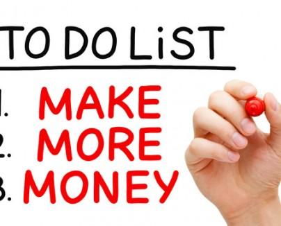 Make More Money To Do List