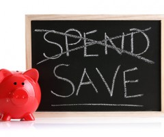 Piggy bank spend or save