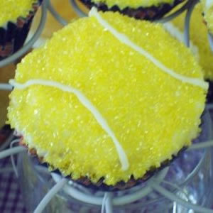 Tennis Ball Cup Cake