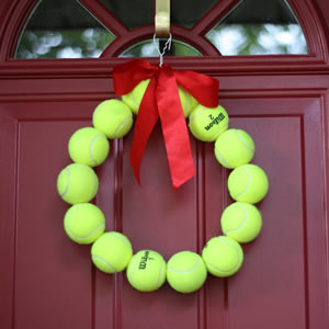 Tennis Ball Door Wreath