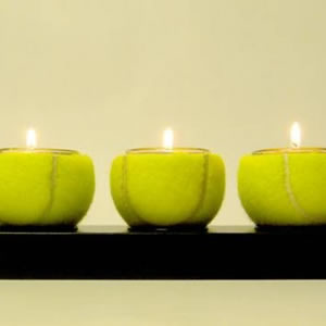 Tennis Ball Tea Light Holder