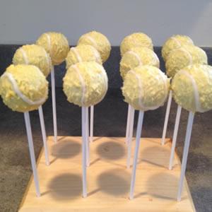 Tennis Ball Pop Cakes