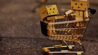 Gold Shopping Trolley