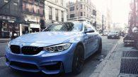 BMW car in street