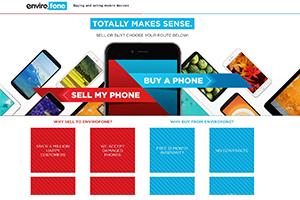 Envirofone Homepage Screenshot