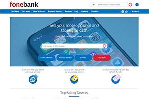 Fonebank Homepage Screenshot